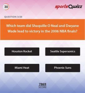 sportsqwizz Quiz play